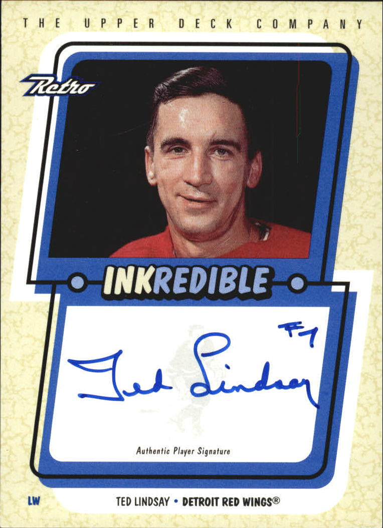 1999-00 Upper Deck Retro Inkredible #TL Ted Lindsay