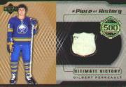 1999-00 Upper Deck A Piece of History 500 Goal Club #500GP Gilbert Perreault