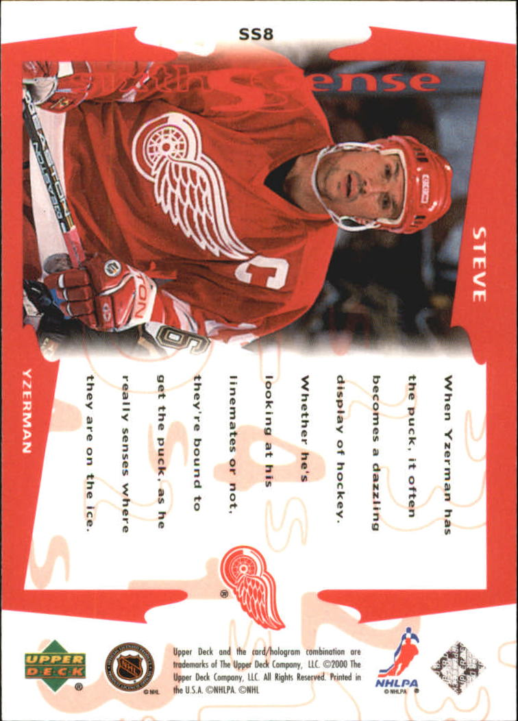 1999-00 Upper Deck Sixth Sense #SS8 Steve Yzerman back image