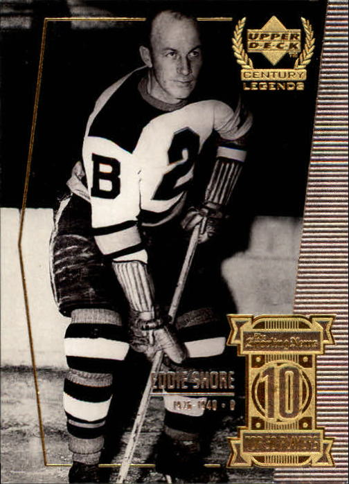 1999-00 Upper Deck Century Legends #10 Eddie Shore