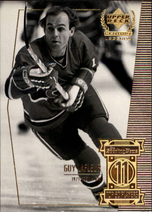 1999-00 Upper Deck Century Legends #11 Guy Lafleur front image