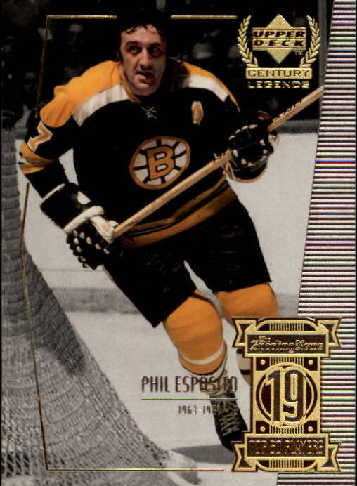 1999-00 Upper Deck Century Legends #19 Phil Esposito