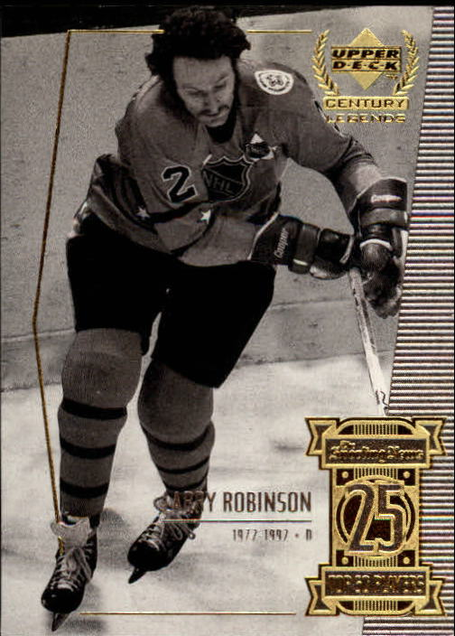 1999-00 Upper Deck Century Legends #25 Larry Robinson
