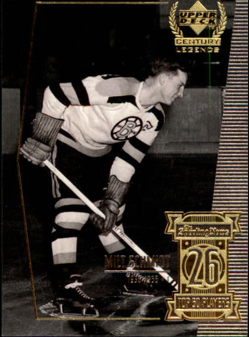 1999-00 Upper Deck Century Legends #26 Milt Schmidt