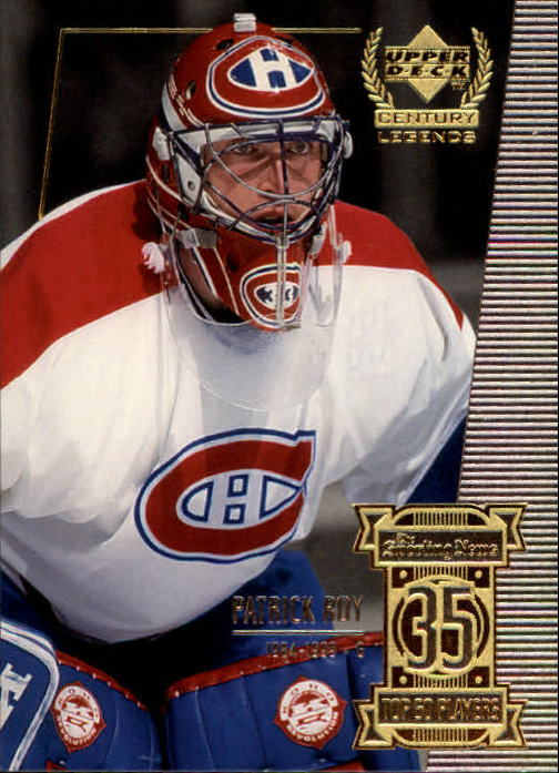 1999-00 Upper Deck Century Legends #35 Patrick Roy