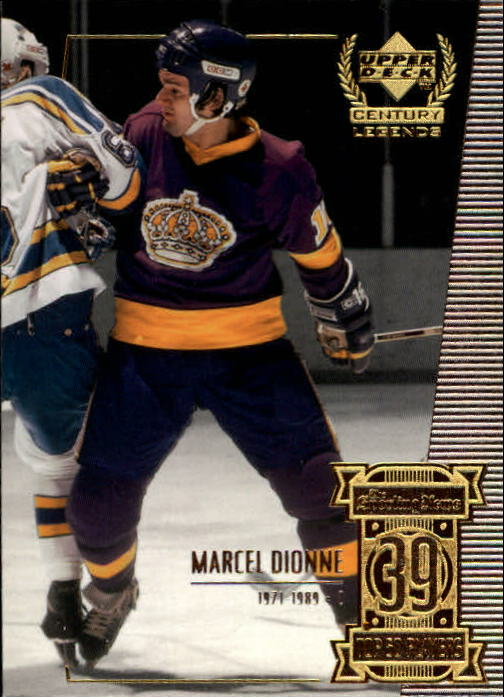 1999-00 Upper Deck Century Legends #39 Marcel Dionne