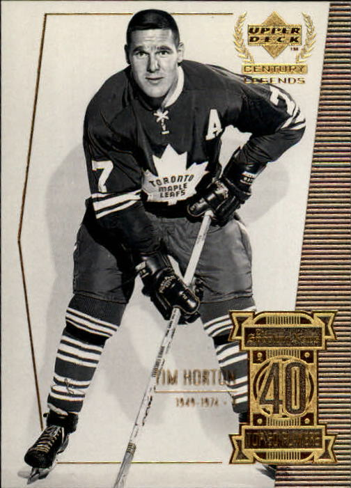 1999-00 Upper Deck Century Legends #40 Tim Horton