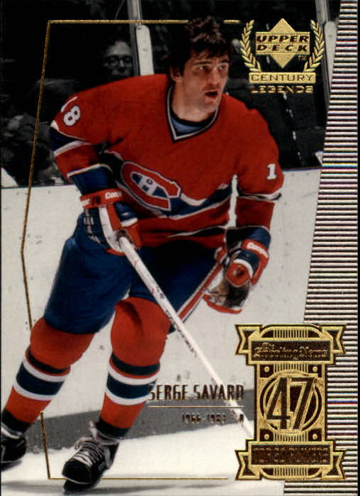 1999-00 Upper Deck Century Legends #47 Serge Savard