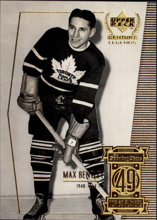 1999-00 Upper Deck Century Legends #49 Max Bentley