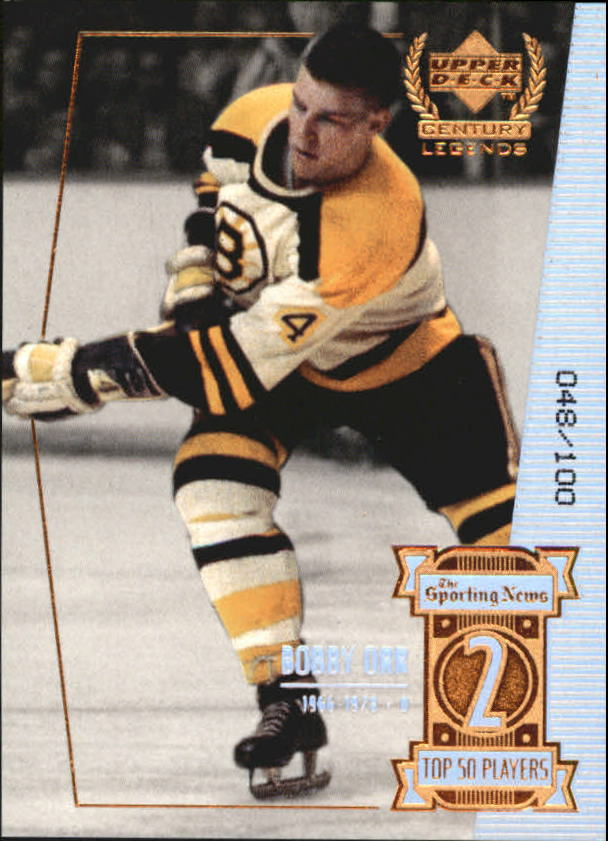 1999-00 Upper Deck Century Legends Century Collection #2 Bobby Orr
