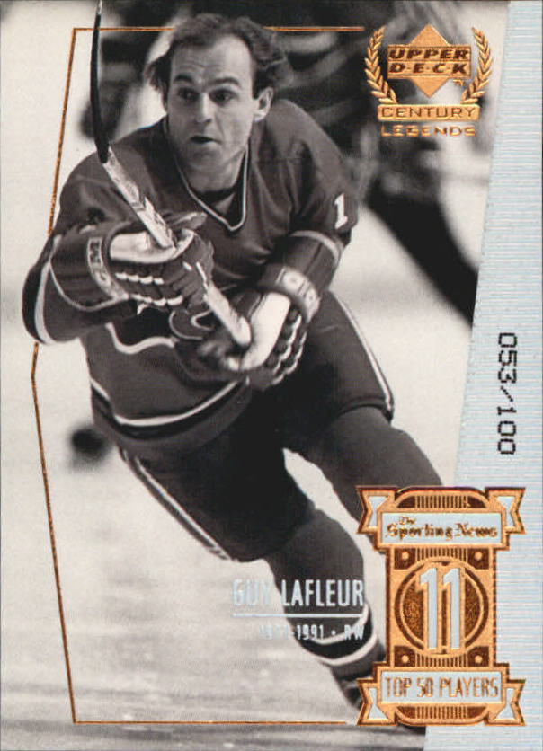 1999-00 Upper Deck Century Legends Century Collection #11 Guy Lafleur