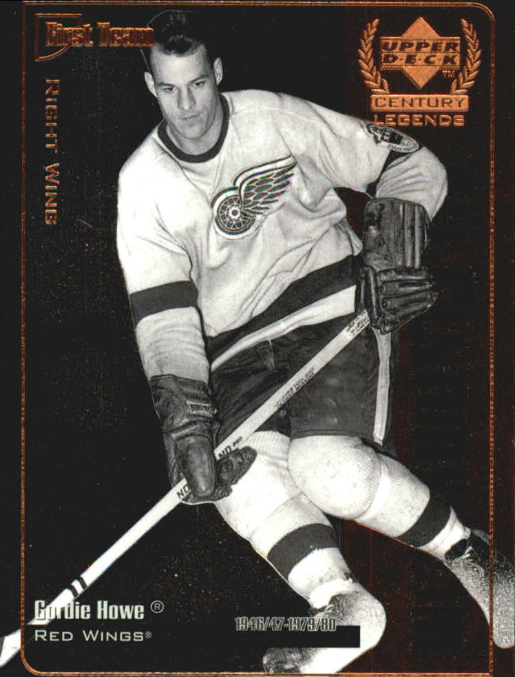 1999-00 Upper Deck Century Legends All Century Team #AC2 Gordie Howe