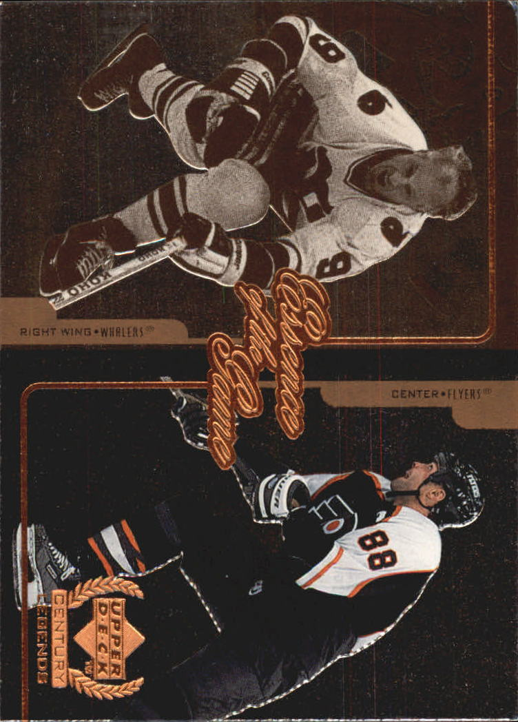 1999-00 Upper Deck Century Legends Essence of the Game #E4 Gordie Howe/Eric Lindros