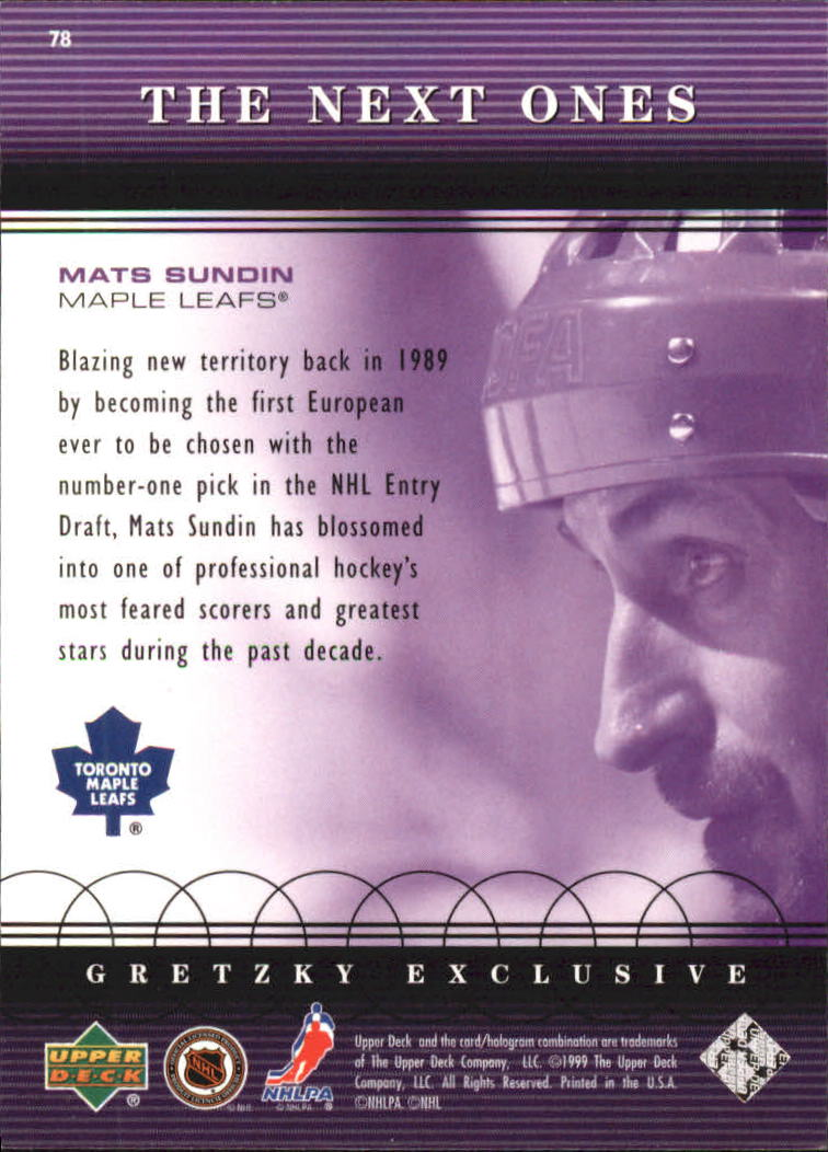 1999-00 Upper Deck Gretzky Exclusives #75 Wayne Gretzky back image