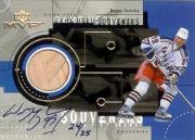 1999-00 Upper Deck MVP Game-Used Souvenirs #GUS1 W.Gretzky AU/25