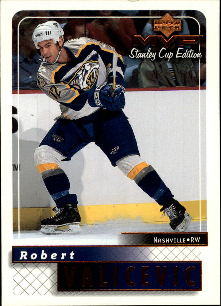 1999-00 Upper Deck MVP SC Edition #99 Rob Valicevic RC