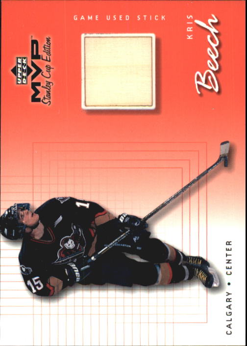 1999-00 Upper Deck MVP SC Edition Game-Used Souvenirs #GUKB Kris Beech