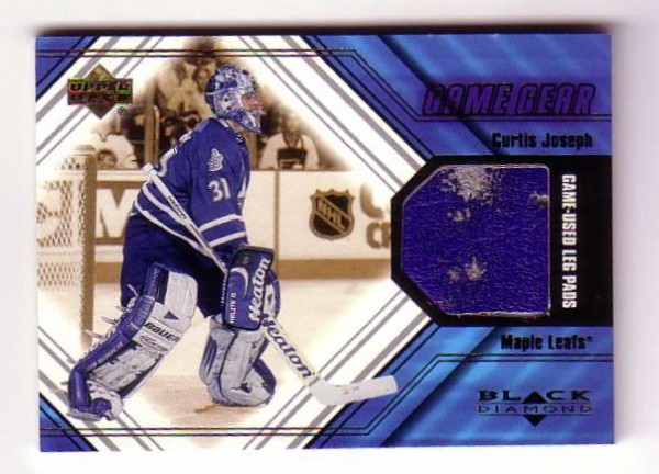 2000-01 Black Diamond Game Gear #LCJ Curtis Joseph Pad