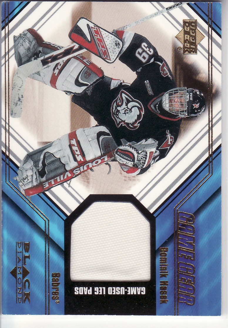 2000-01 Black Diamond Game Gear #LDH Dominik Hasek Pad