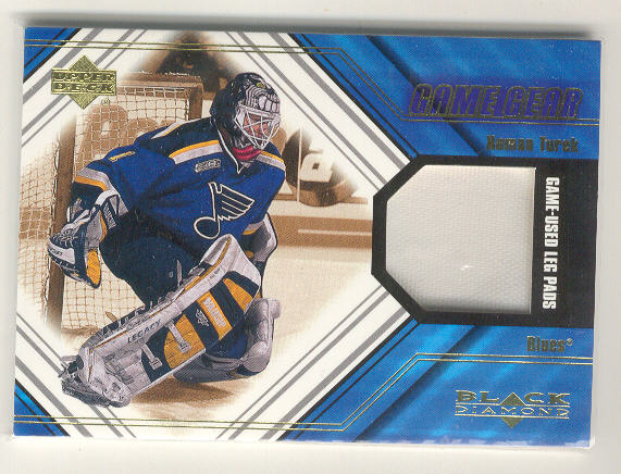 2000-01 Black Diamond Game Gear #LTU Roman Turek Pad Upd