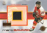 2000-01 Crown Royale Game-Worn Jersey Patches #5 Marc Savard/144