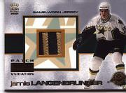 2000-01 Crown Royale Game-Worn Jersey Patches #9 Jamie Langenbrunner/143