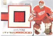 2000-01 Crown Royale Game-Worn Jersey Patches #14 Chris Osgood/143