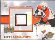 2000-01 Crown Royale Game-Worn Jersey Patches #20 John LeClair/144