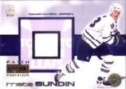 2000-01 Crown Royale Game-Worn Jersey Patches #24 Mats Sundin/104