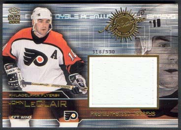 2000-01 Crown Royale Premium-Sized Game-Worn Jerseys #20 John LeClair/330