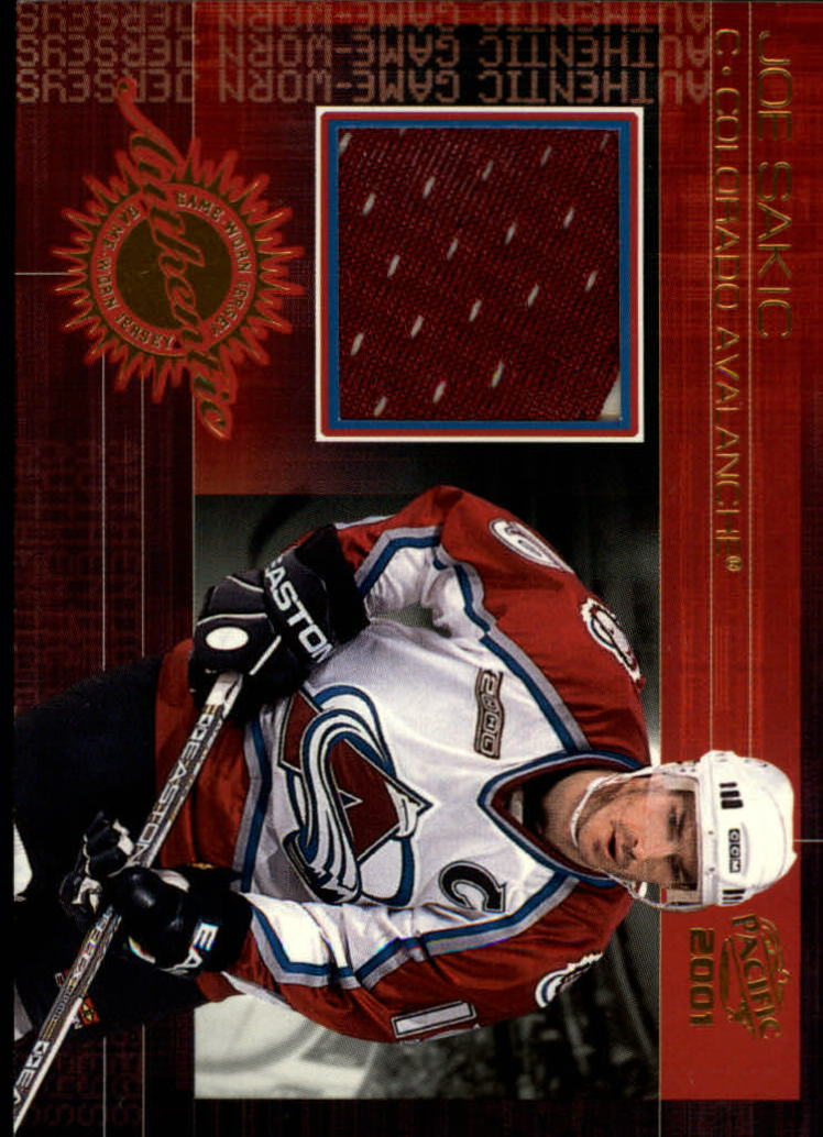 2000-01 Pacific Jerseys #4 Joe Sakic