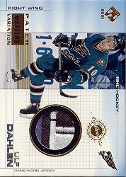 2000-01 Private Stock Game Gear Patches #103 Ulf Dahlen/183