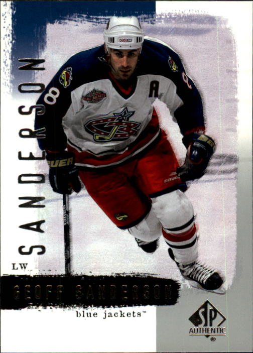 2000-01 SP Authentic #27 Geoff Sanderson