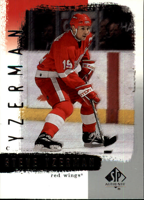 2000-01 SP Authentic #31 Steve Yzerman front image