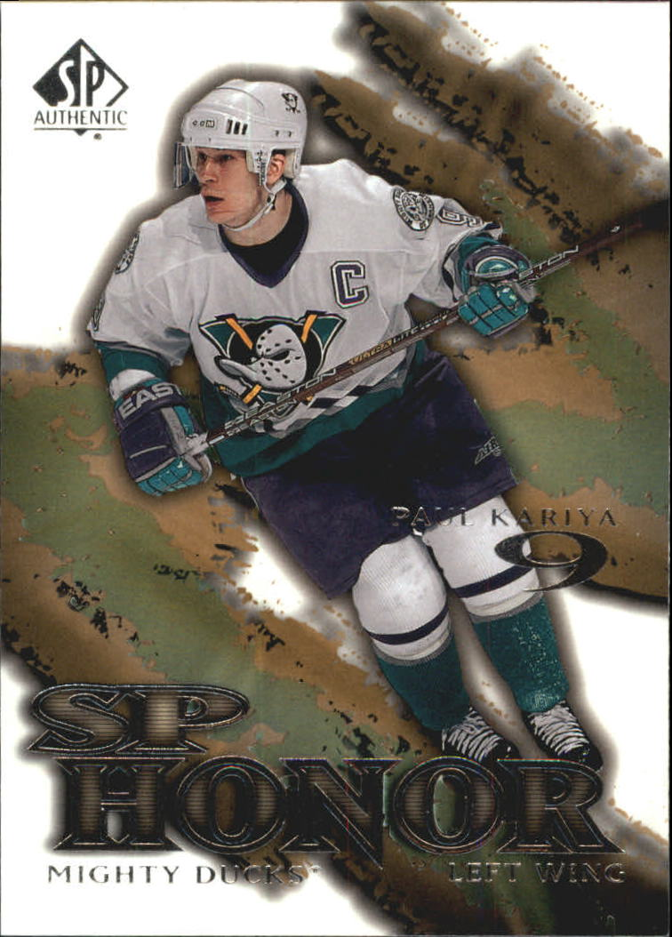2000-01 SP Authentic Honor #SP1 Paul Kariya