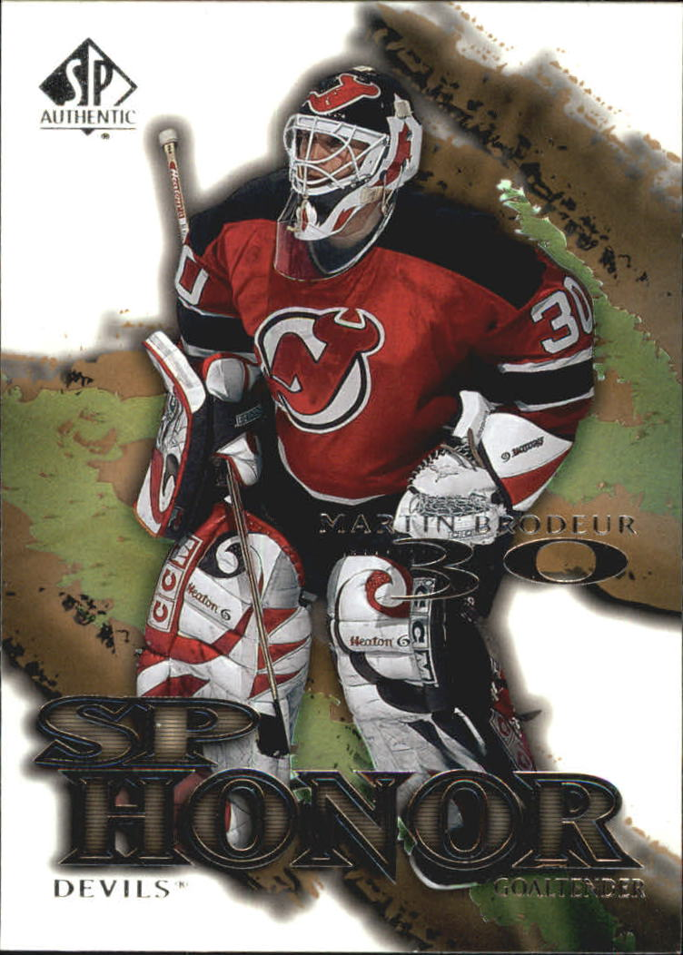 2000-01 SP Authentic Honor #SP4 Martin Brodeur