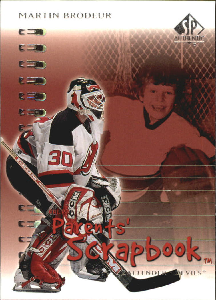 2000-01 SP Authentic Parents' Scrapbook #PS5 Martin Brodeur