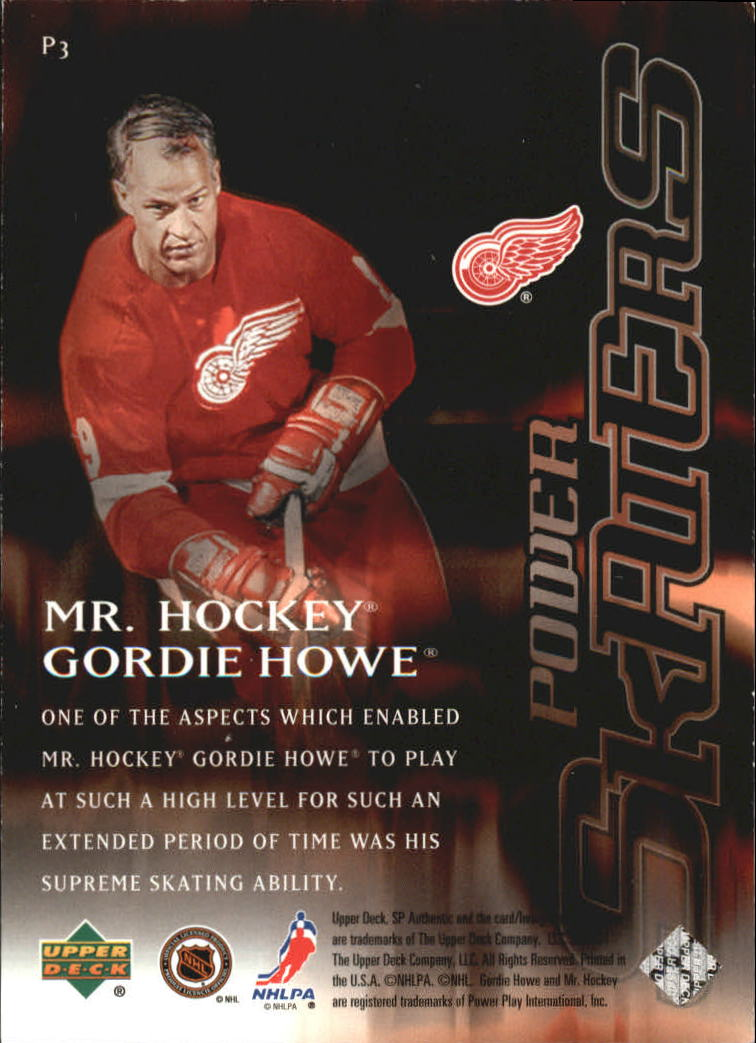 2000-01 SP Authentic Power Skaters #P3 Gordie Howe back image
