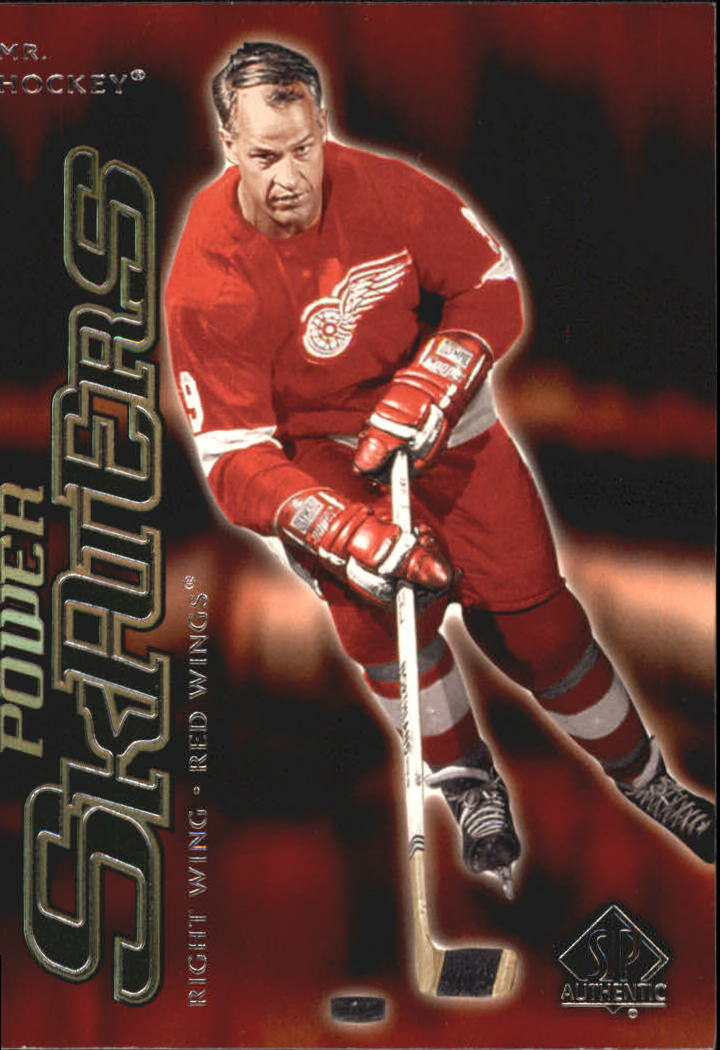 2000-01 SP Authentic Power Skaters #P3 Gordie Howe front image