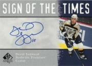 2000-01 SP Authentic Sign of the Times #DL David Legwand