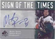 2000-01 SP Authentic Sign of the Times #MT Marty Turco