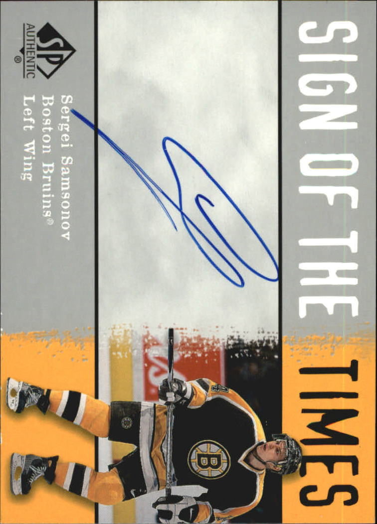 2000-01 SP Authentic Sign of the Times #SA Sergei Samsonov