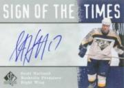 2000-01 SP Authentic Sign of the Times #SH Scott Hartnell