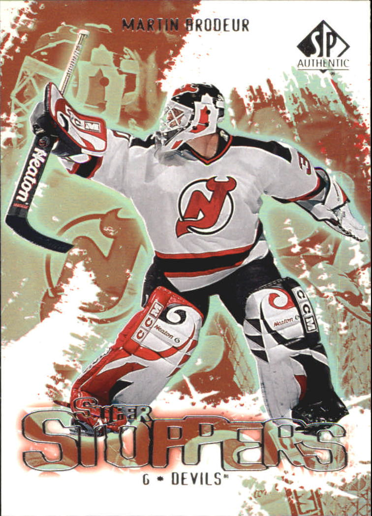 2000-01 SP Authentic Super Stoppers #SS4 Martin Brodeur