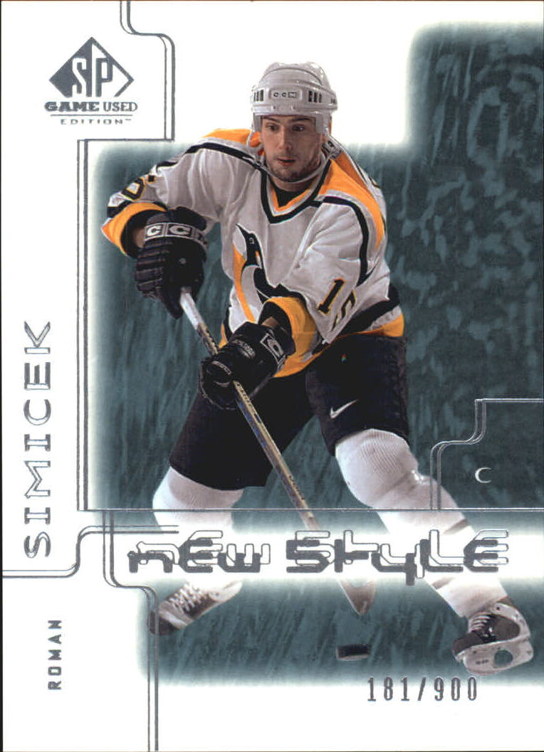 2000-01 SP Game Used #80 Roman Simicek RC
