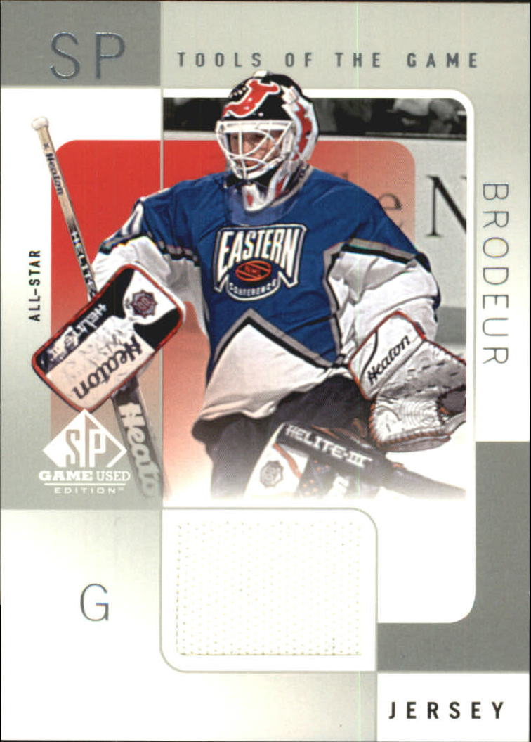2000-01 SP Game Used Tools of the Game #MB Martin Brodeur