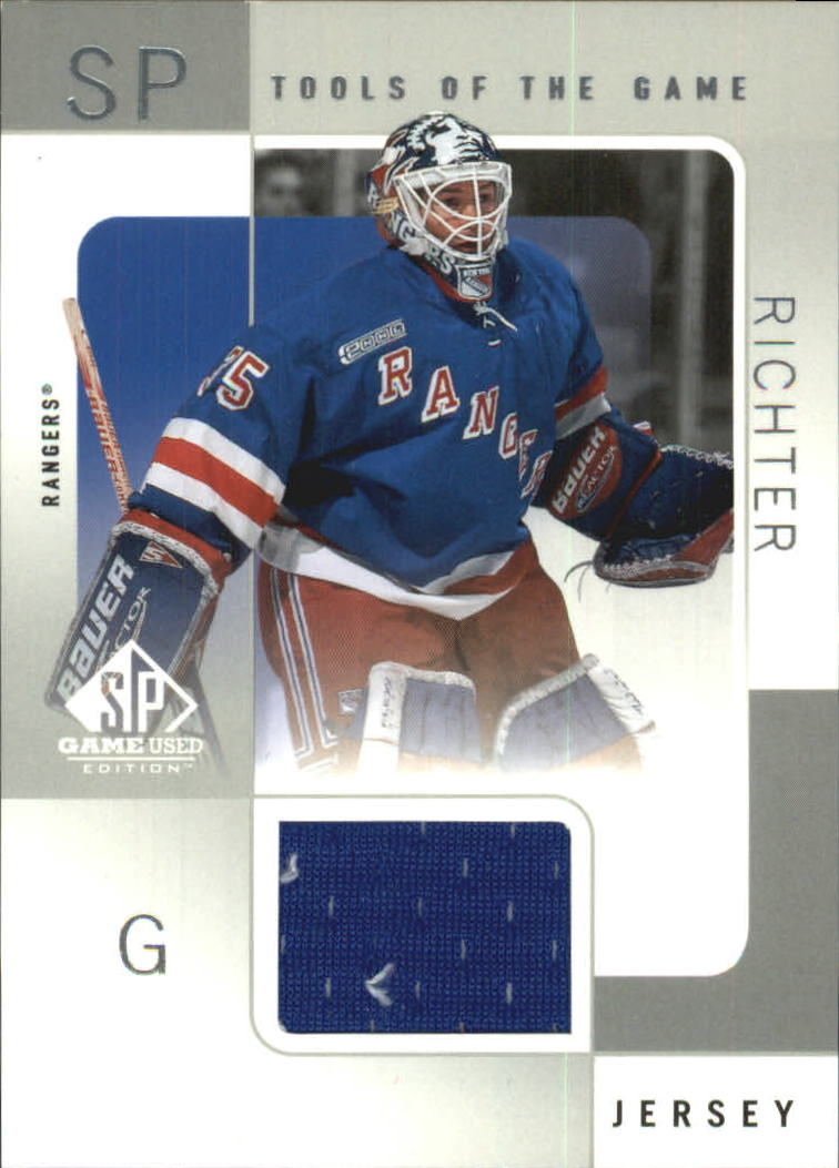 2000-01 SP Game Used Tools of the Game #MR Mike Richter