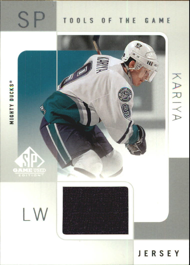 2000-01 SP Game Used Tools of the Game #PK Paul Kariya