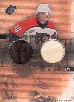 2000-01 SPx Winning Materials #JL John LeClair