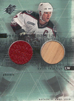 2000-01 SPx Winning Materials #KT Keith Tkachuk
